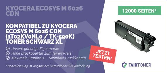 Kompatible Tonerkartusche für Kyocera Ecosys M 6026 cdn