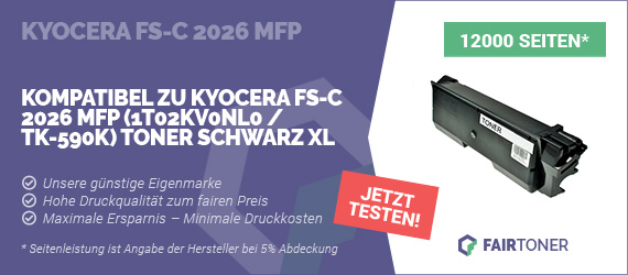 Kompatible Tonerkartusche für Kyocera FS-C 2026 MFP